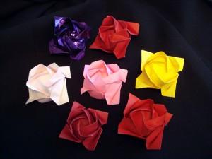 折り紙 バラの花